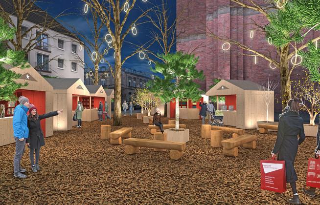 Der Weihnachtsgarten in Krefeld wirkt märchenhaft und zeitgemäß zugle
