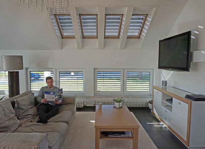 rolll den mit lichtschienen als gute beschattungsl sung f r bodentiefe fenster. Black Bedroom Furniture Sets. Home Design Ideas