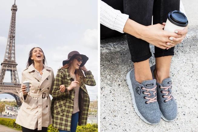 In bequemen, atmungsaktiven Sneakers fühlen sich die Füße wohl